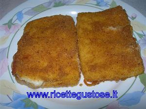 Polenta in carrozza al forno ricetta antipasto con for Ricette mozzarella in carrozza al forno