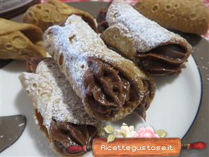 Cannoli siciliani mascarpone e nutella