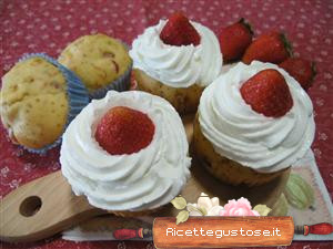 Cupcake light alle fragole