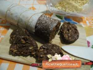 salame di cioccolato con rice krispies