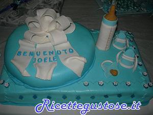 Torta battesimo bimbo con ciuccio e scarpine torte - Decorazioni battesimo bimbo ...