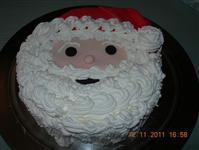 Torta Decorata Con Viso Di Babbo Natale Ricette Natale Dolci Natale