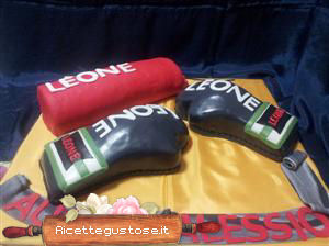 Torta decorata kick boxing