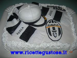 Torta juventus in pasta di zucchero dolci decorati for Decorazioni juventus per torte