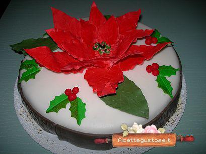 Torta Con Stella Di Natale.Torta Con Stella Di Natale In Gum Paste Decorazioni Dolci Decorazioni In Gum Past Mobile