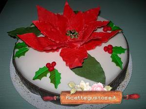 Torta Stella Di Natale.Torta Con Stella Di Natale In Gum Paste Decorazioni Dolci