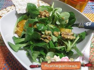 Ricetta insalata sfiziosa songino arance e noci for Songino valeriana