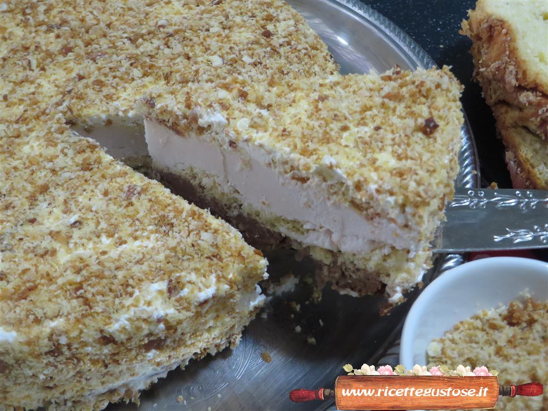 Ricetta torta gelato con colomba di pasqua ricette torte for Ricette di torte gelato
