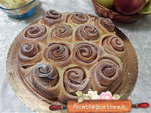 torta di rose alle mele light