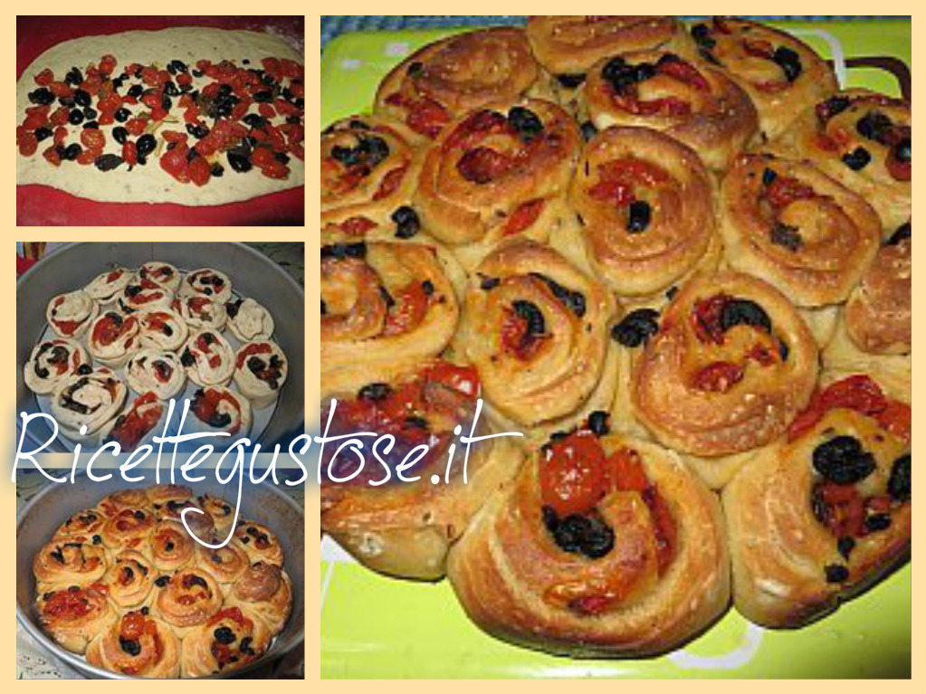 Torta delle rose salata pomodori ciliegino e olive nere - Torte salate decorate ...