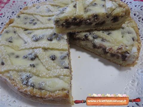 Ricetta Torta Ricotta E Gocce Di Cioccolato.Crostata Ricetta Crostata Ricotta E Gocce Cioccolata