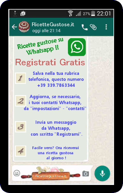 whatsapp ricette gustose