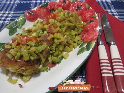 Ricetta Zucchine Trombetta.Ricetta Pollo Insalata Zucchine Trombetta