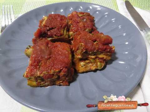 Parmigiana gustosa con zucchine grigliate